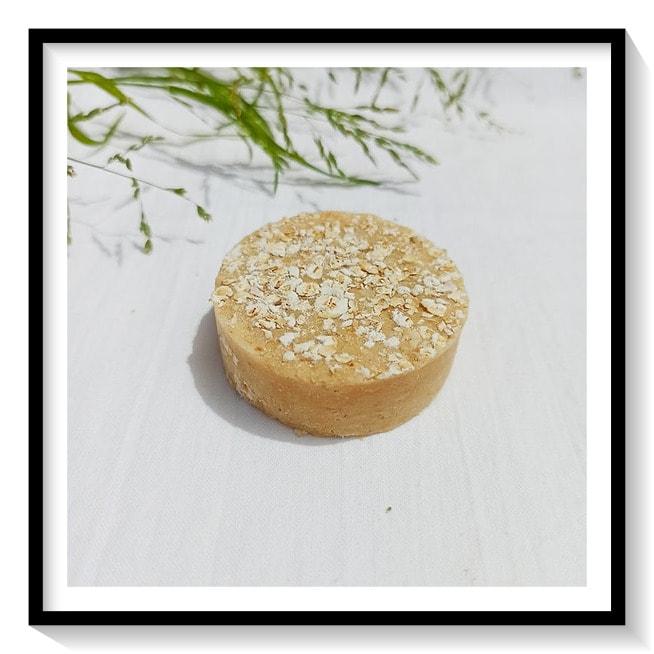 abón sólido (Champú) suave de avena y hamamelis